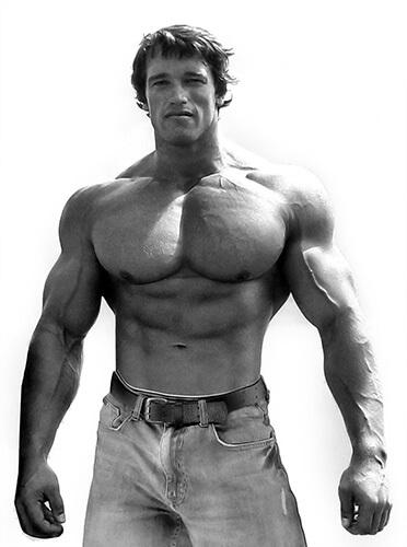 Bodybuilder Arnold Schwarzenegger e steroidi anabolizzanti